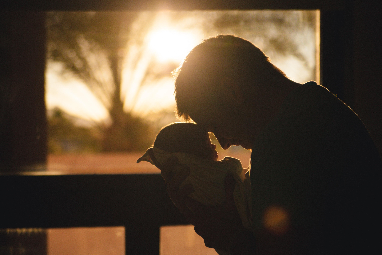 papa en baby